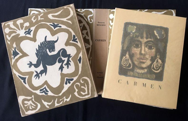 Libro Illustrato Clavé - CARMEN. Lithographies originale de Clavé