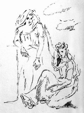 Litografia De Pisis - Carmi di Catullo XI