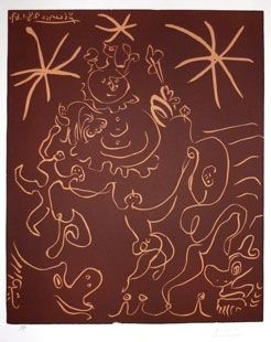 Linoincisione Picasso - Carnaval 1967