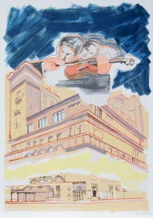 Litografia Rivers - Carnegie Hall