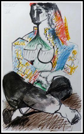Litografia Picasso (After) - CARNET DE CALIFORNIE VIII