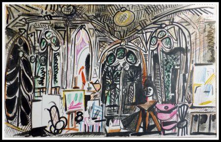 Litografia Picasso (After) - CARNET DE CALIFORNIE XIII
