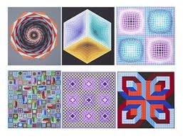 Serigrafia Vasarely - Carpeta Jalons