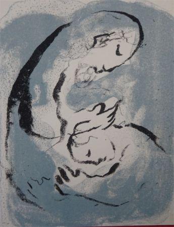 Litografia Chagall - Carte de Voeux 1968 ,tirage du noir