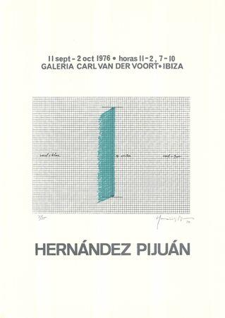 Serigrafia Hernandez Pijuan - Cartel de la exposición Galería Carl van der Voort, Ibiza