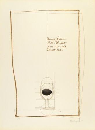 Litografia Hernandez Pijuan - Cartel exposición Sala Gaspar