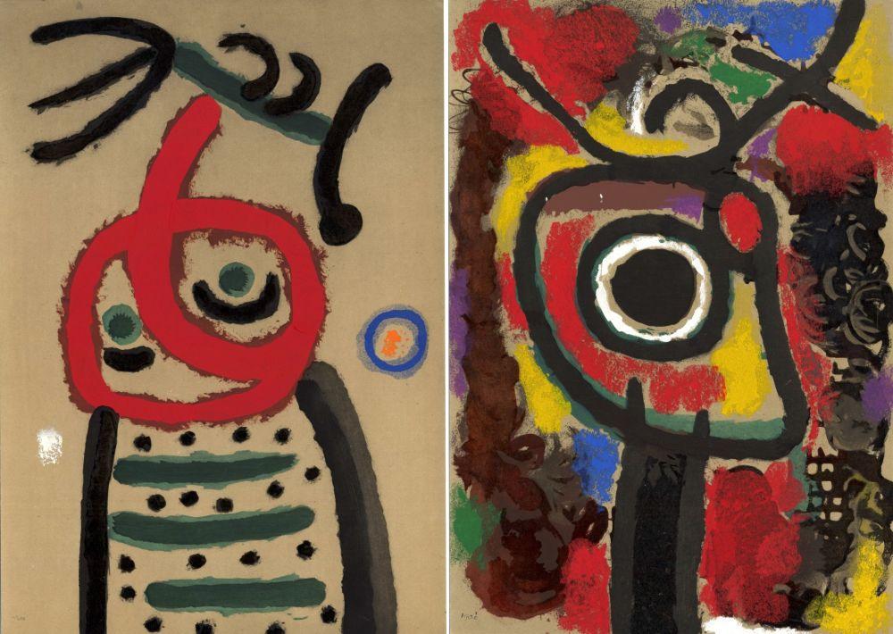 Libro Illustrato Miró - CARTONES. New-York 1965