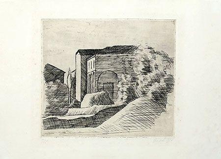 Incisione Morandi - Casetta