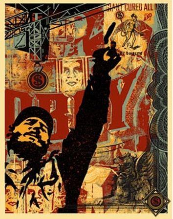 Serigrafia Fairey - Castro Collage