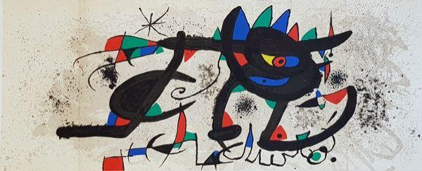 Litografia Miró - Catalogue Cover