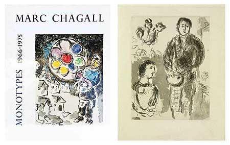 Libro Illustrato Chagall - Catalogue des monotypes