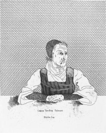 Incisione Hockney - Catharina Dorothea Viehman