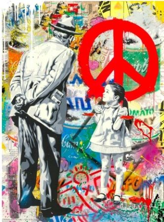 Serigrafia Mr. Brainwash - Caught Red-Handed, 2020