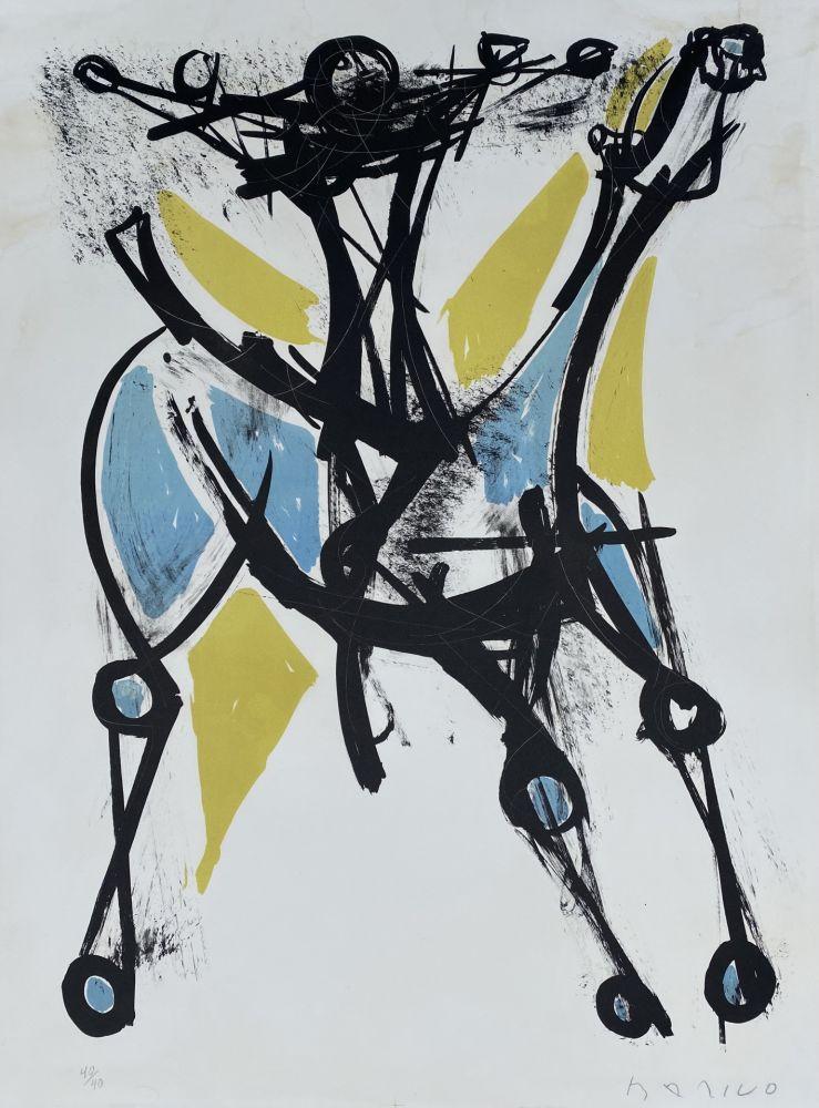 Litografia Marini - Cavalier et Cheval, Jeune et Blue, 1952