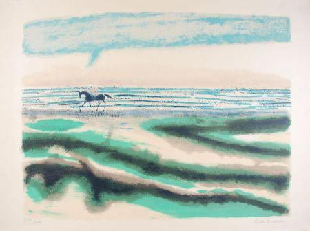 Litografia Brasilier - Cavalier sur la plage