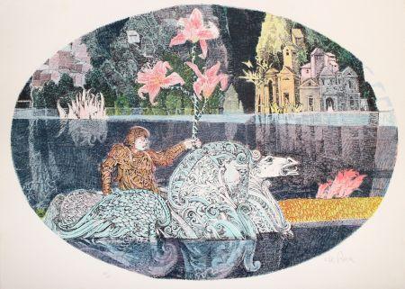 Litografia De Rosa - Cavaliere