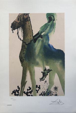 Litografia Dali - Cavaliere Nero INTERGRAFICA 56X38