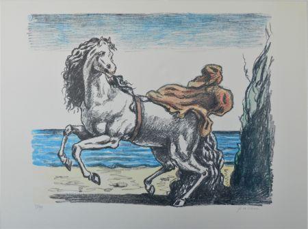 Litografia De Chirico - Cavallo con manto (seconda versione)
