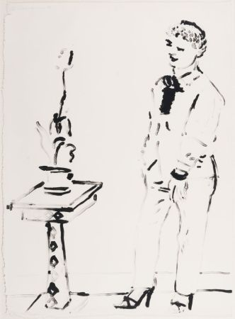 Litografia Hockney -  Celia Amused