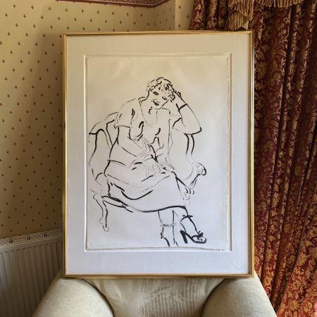 Litografia Hockney -  Celia Inquiring