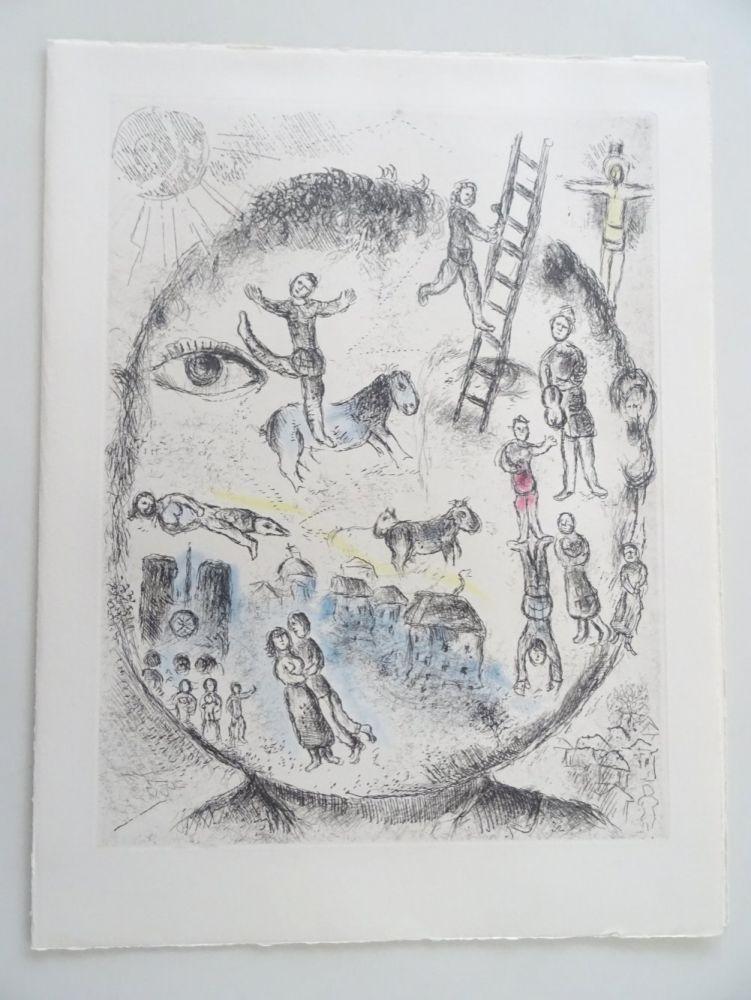 Acquaforte E Acquatinta Chagall - Celui qui dit les Choses sans rien dire, planche 528