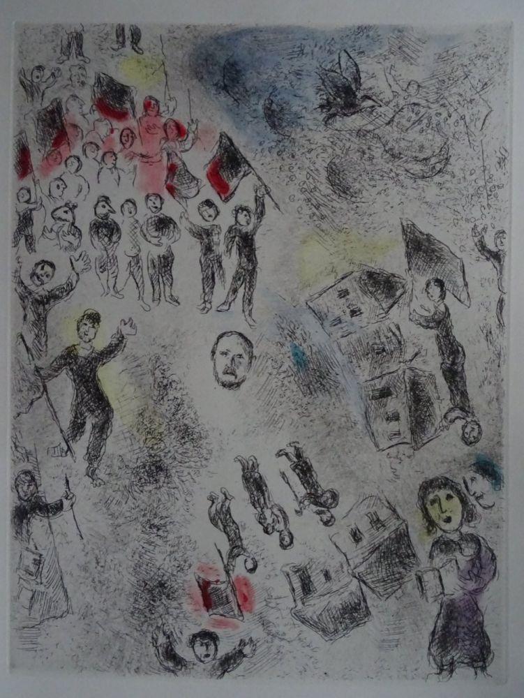 Acquaforte E Acquatinta Chagall - Celui qui dit les choses sans rien dire, plate 11.