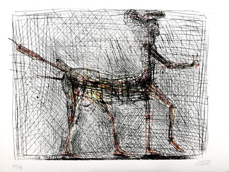 Litografia Cesar - Centaure - Hommage à Picasso