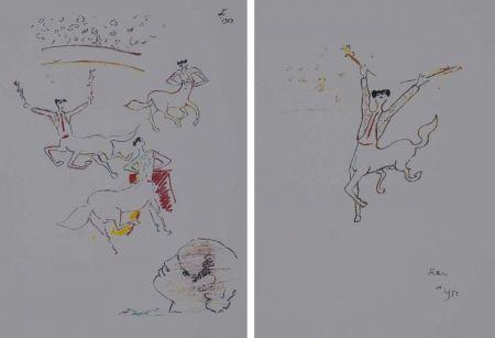 Litografia Cocteau - Centauros taurinos