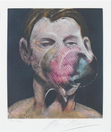 Acquaforte E Acquatinta Bacon - Central panel  from 3 studies for a portrait of Peter Beard I