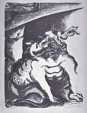 Litografia Zadkine - Cerbere