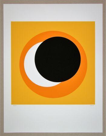 Serigrafia Claisse - Cercle noir sur fond orange