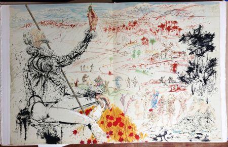 Libro Illustrato Dali - Cervantès : DON QUICHOTTE DE LA MANCHE (12 lithographies originales).