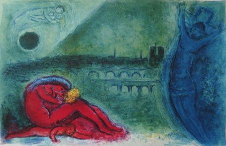 Litografia Chagall - Chagall- Quai de la Tournelle