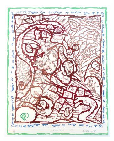 Litografia Alechinsky - Champ clos