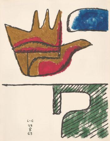 Litografia Le Corbusier - Chandigarh Open Hand