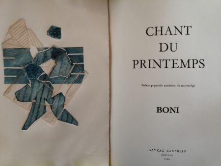 Libro Illustrato Boni - Chant du Printemps - Poème populaire arménien -