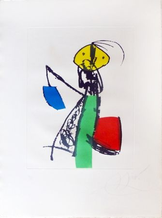 Incisione Miró - Chanteur des rues