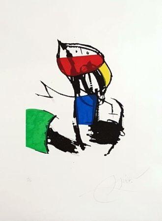 Incisione Miró - Chanteurs Des Rues