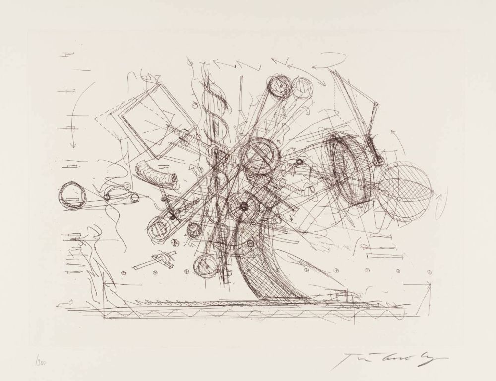 Incisione Tinguely - Chaos I