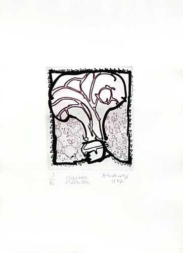 Incisione Alechinsky - Chapeau d'écriture