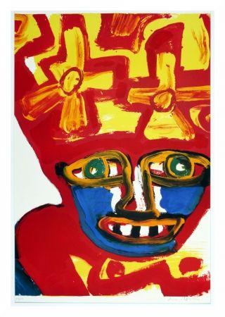 Litografia Lindstrom - Chapeau rouge et jaune