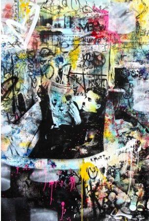 Serigrafia Mr Brainwash - Chaplin, 2016