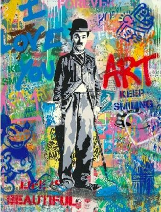 Serigrafia Mr Brainwash - Chaplin, 2019