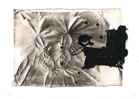 Litografia Tàpies - Chaussures sur chaise