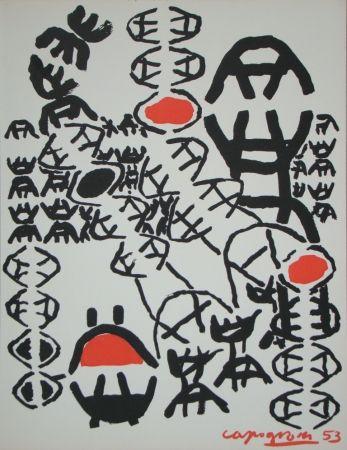 Litografia Capogrossi - Chemin de croix, 1953