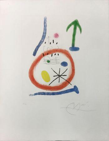 Acquaforte E Acquatinta Miró - CHEMIN DE RONDE III