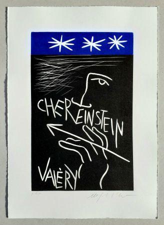 Linoincisione Paladino - Cher monsieur Einstein