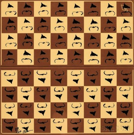 Serigrafia Arman - Chessboard in Hommage to Marcel Duchamp's L.H.O.O.Q.