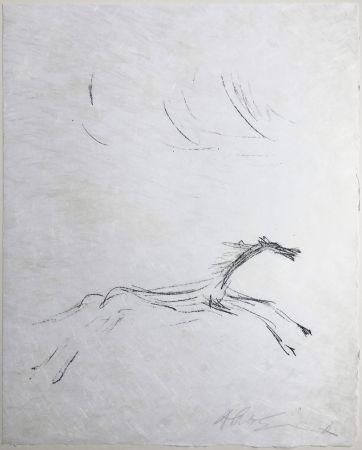 Litografia Giacometti - CHEVAL GALOPANT (Galopping horse). 1961. signée