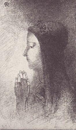 Litografia Redon - Chevalieres Sentimentales
